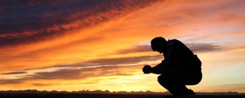 La preghiera al tramonto